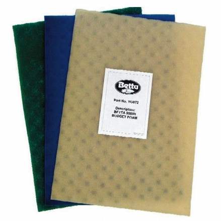 "Filter Foam Replacement Sponges 9000L 3 Pack 24"" X 17"""